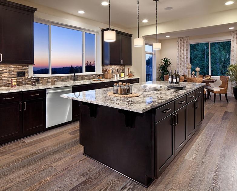granite backsplash vs. tile backsplash