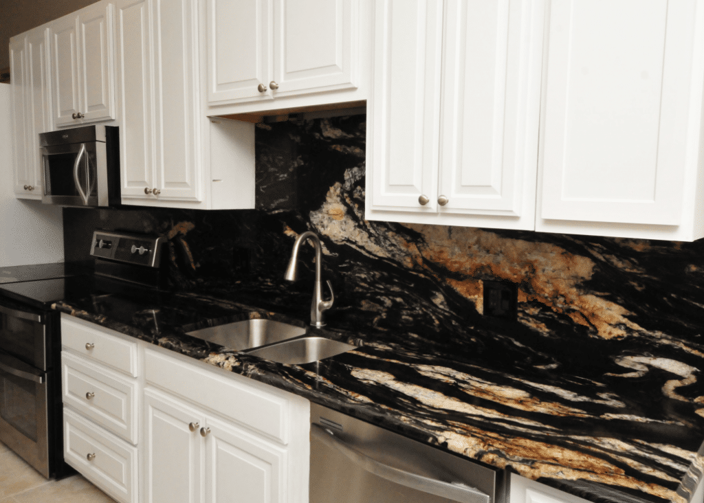 Full Granite Backsplash or Tile Backsplash
